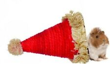 Christmas Xmas Festive Small Animal Sisal Red Santa Hat Bed Nest Hide Out Den