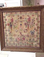 Antique Sampler 1858 Framed Antique Sampler Ornate Frame