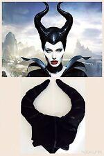 Nuevo Maleficent Tela Sombrero Cuernos Bruja Villano Horror Halloween Fiesta De Disfraces