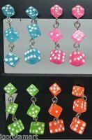Choose Color-Great Ladies Fashion Dice Ear Stud Dangle Earrings Piercing