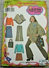 Simplicity Lizzie McGuire  #4897 Girls Pants Skirt Poncho Top Bag Size AA 8-16