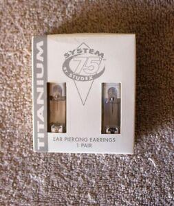 Studex System 75 Titanium 3MM September Sapphire Earrings 7533-0209 - NEW!
