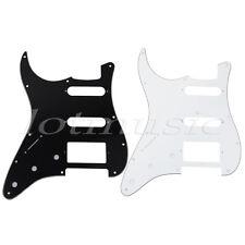 2pcs Left-handed Guitar Pickguard Scratch Plate for Strat SSH 3ply Black/White