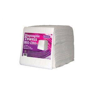 Disposable Towels for Hairdressers BIO EKO (50x40) Separately Folded x 100