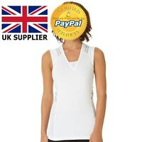 Reebok Easytone Sleeveless Taped Toning Top White Women Size S-M Compression Fit