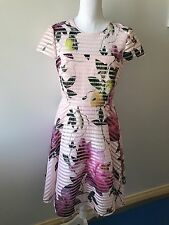 Ted Baker New Season Citrus Bloom Mesh Dress Sz 2, 3 UK10, 12 BNWT