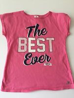 Domyos, 10 year girl t-shirt pink 'THE BEST EVER' Logo, sports