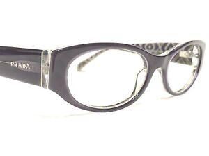 Prada VPR03P MAT-1O1 Women's Purple Modern Rx Designer Eyeglasses Frames 53/17