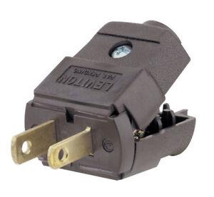 Leviton 035-00101-2BP Light Duty Polarized Electrical Plug, Clear