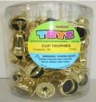 CUP TROPHIES GOLD PACK OF 28 PARTY FAVOURS SUPPLIES