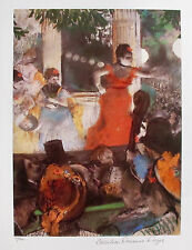 "EDGAR DEGAS ""CAFE CONCERT"" Estate Signed & Stamped Limited Edition Small Giclee"