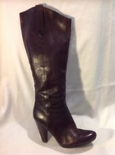 Nine West Brown Knee High Leather Boots Size 7W (U.K. Size 5)
