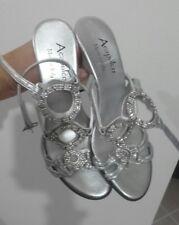Scarpe donna tacco argento Silver 34
