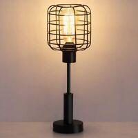 Edison Vintage Nightstand Lamp for Bedroom, Office, Dorm, Living Room, Black