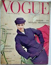 1956 Vogue Paris 50s vintage French couture fashion magazine Guy Bourdin Bugatti