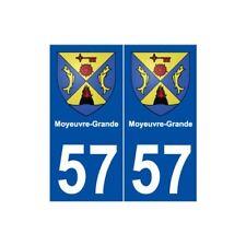 57 Moyeuvre-Grande blason autocollant plaque stickers ville -  Angles : droits
