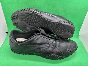 Puma Mostro Black Leather men's Shoes size 10.5