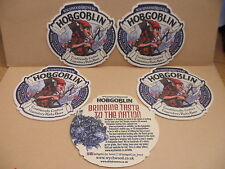 5 Wychwoood Brewery Hobgoblin Ale Beer Mats Coasters Pub Bar collectible