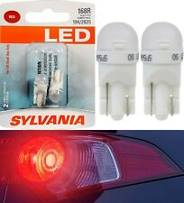 Sylvania LED Light 168 T10 Red Two Bulbs License Plate Tag Replace OE Show Use