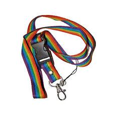 Pride Shack - LGBT Rainbow Lanyard Necklace - Gay Lesbian Keychain ID Holder