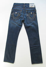 True Religion Ricky Big T Flap Blue Jeans Hose Denim Straight 30