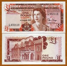 Gibraltar, 1 pound, 1988,  P-20 (20e), Young QEII, UNC > Replaced by a coin