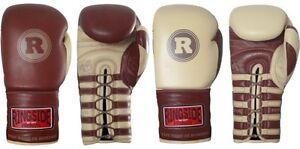 Ringside Heritage Pro Fight Gloves Boxing Muay Thai Kickboxing