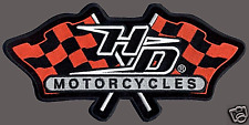 HARLEY DAVIDSON RACING FLAG PATCH 10 INCH RACING  PATCH