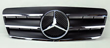 Mercedes CLK Class W208 98-03 3 Fin Front Hood Sport Black Chrome Grill Grille