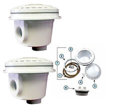 """Swimming 1.5"""" Pool Bottom Dual Main Drain Bottom Suction Outlets - 2 Pack"""
