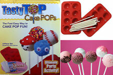 8 Cup Tasty Cake Pops Top Maker Baking Mold Tray Pan Silicone FREE Sticks gift