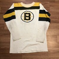 Boston Bruins Rick Middleton Vintage 80s Jersey Adult S White NHL Hockey 16