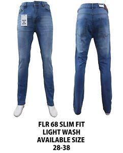 Mens Slim Fit Jeans Stretch Basic Denim Pants Trousers All Waist & Leg Sizes