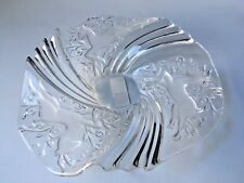 """Mikasa Frosted Crystal Reindeer Bon Bon Candy Plate Dish Bowl 9"""" Germany"""