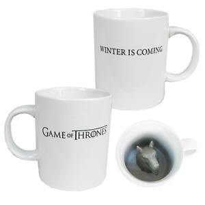 GAME OF THRONES STARK DIREWOLF SCULPTED MUG OFFICIALLY LICENSED WINTER IS COMING