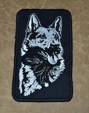 patch, chien berger , berger allemand,12/7cm brodé et thermocollant