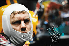 Sebastian Vettel SIGNED 12x8 Portrait ,F1 Pre-Season Test Barcelona  2013
