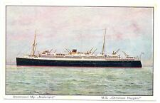 NEDERLAND  S.M.N. 1928 6-13 AK SHIP =M.S.CHRISTIAAN HUYGENS = PM- POSTAGENT FINE