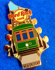 NEW ORLEANS STREETCAR TROLLEY GUITAR HEAD GLOBAL SERIES Hard Rock Cafe PIN LE