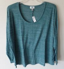 Old Navy Womens XXL 2X Lightweight Sweater Knit Top Shirt Teal Storm New