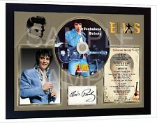 Elvis Presley Unchained Melody Moody Blue SIGNED FRAMED PHOTO CD