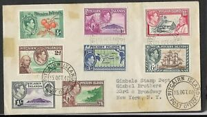 Pitcairn Island 10-15-1940 Registered First Day Cover Scott #1-#8, (not 5a, 6a)