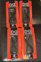 """4 NEW Hosa IRG-103 3 Ft Guitar Patch Cable Right Angle 1/4"""" TS to Same FREE SHIP"""