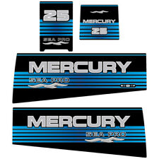 Mercury 25 SEA PRO outboard decal aufkleber adesivo sticker set