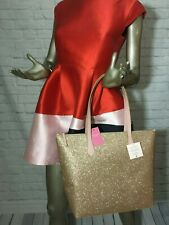 NWT Authentic KATE SPADE Joeley glitter LARGE tote Released 10/22/19