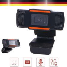 Webcam HD 1280*720P Kamera USB Mit Mikrofon für Computer PC Laptop Mac Full HD