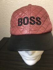 Boss BCBGerneration Adjustable Quilted Women's baseball cap hat NWT