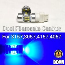 T25 3155 3157 3457 4157 SRCK 21 SMD LED Blue Front Turn Signal Light bulb M1 MA