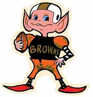 CLEVELAND BROWNS  Football    Vintage Style 1950's  Travel Decal Sticker