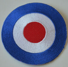 MODS SYMBOL RAF ROUNDEL  Embroidered Iron Sew On Cloth Patch Badge  APPLIQUE NEW